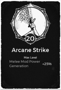 The Arcane Strike passive trait at level 20 in Remnant: From the Ashes.