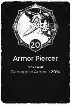 Armor Piercer - Level 20 Passive Trait Card - Remnant From the Ashes (Video Game)