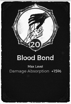 The Blood Bond passive trait at level 20 in Remnant: From the Ashes.