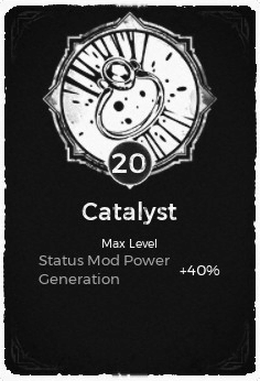 The Catalyst passive trait at level 20 in Remnant: From the Ashes.