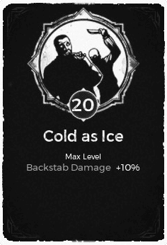 Cold As Ice - Level 20 Passive Trait Card - Remnant From the Ashes (Video Game)