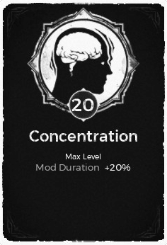 The Concentration passive trait at level 20 in Remnant: From the Ashes.