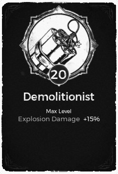 Demolitionist - Level 20 Passive Trait Card - Remnant From the Ashes (Video Game)