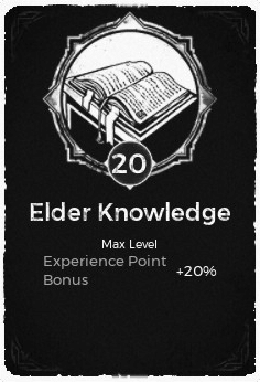 The Elder Knowledge Passive Trait at Level 20 in Remnant: From the Ashes.