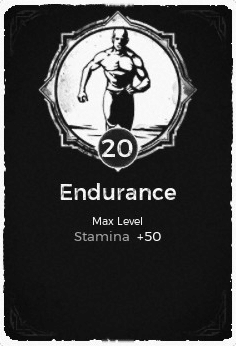 The Endurance passive trait at level 20, in the video game Remnant: From the Ashes.