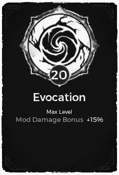 The Evocation passive trait at level 20 in Remnant: From the Ashes.