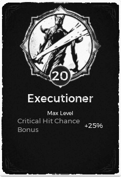 Executioner - Level 20 Passive Trait Card - Remnant From the Ashes (Video Game)