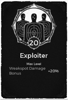 Exploiter - Level 20 Passive Trait Card - Remnant From the Ashes (Video Game)