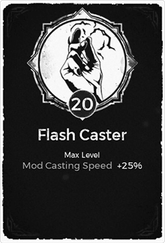 The Flash Caster passive trait at level 20 in Remnant: From the Ashes.