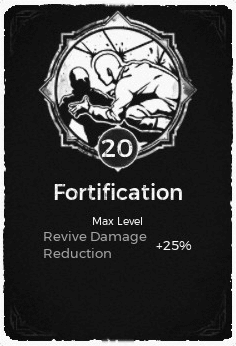 The Fortification passive trait at level 20 in Remnant: From the Ashes.