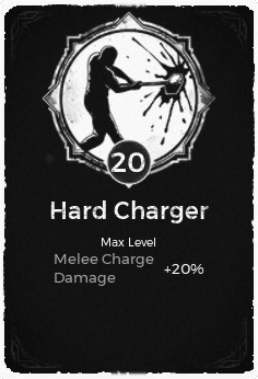 Hard Charger - Level 20 Passive Trait Card - Remnant From the Ashes (Video Game)