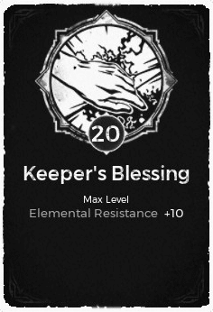 The Keeper's Blessing passive trait at level 20, in the video game Remnant: From the Ashes.