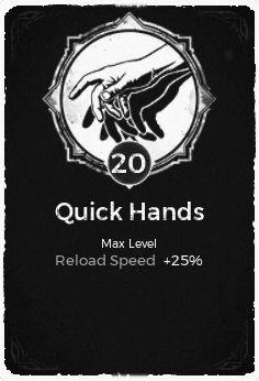 Quick Hands - Level 20 Passive Trait Card - Remnant From the Ashes (Video Game)