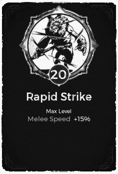 Rapid Strike - Level 20 Passive Trait Card - Remnant From the Ashes (Video Game)