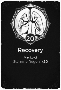 The Recovery passive trait at level 20, in the video game Remnant: From the Ashes.