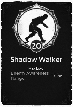 The Shadow Walker passive trait at level 20, in the video game Remnant: From the Ashes.
