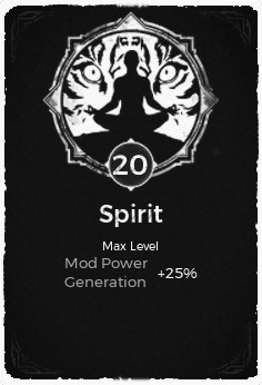 The Spirit passive trait at level 20 in Remnant: From the Ashes.