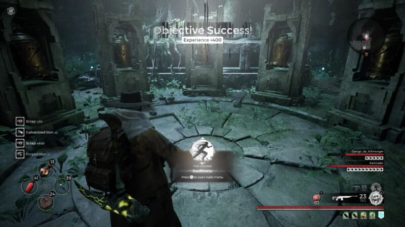 Unlocking the Swiftness trait in the Doe Shrine event found in Yaesha, in the video game Remnant: From The Ashes.