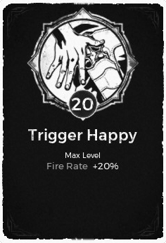 Trigger Happy - Level 20 Passive Trait Card - Remnant From the Ashes (Video Game)