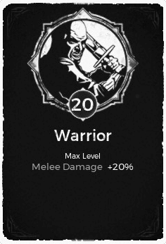 Warrior - Level 20 Passive Trait Card - Remnant From the Ashes (Video Game)