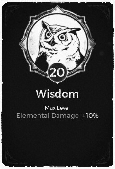 Wisdom - Level 20 Passive Trait Card - Remnant From the Ashes (Video Game)