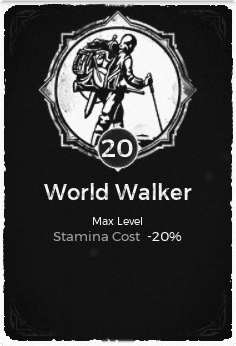 The World Walker passive trait at level 20, in the video game Remnant: From the Ashes.